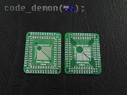 <b>5pcs QFP</b>/<b>TQFP</b>/LQFP/FQFP 32/44/64/80/100 to DIP Adapter PCB ...
