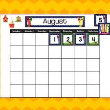 August Theme Calendar Aug Sept Calendar For Smart Board Crayon Theme By