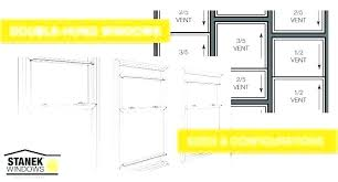 Window Sizes Size Charts Double Hung Picture Egress Chart