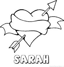 Sarah Liefde Naam Kleurplaat