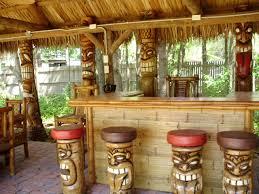 Deck Patio Backyard Tiki Bar Ideas Christmas Lights