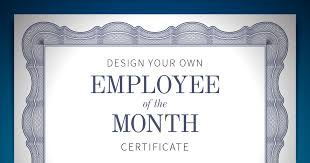 Printable Employee Of The Month Certificates Employee Of The Month Certificate When I Work