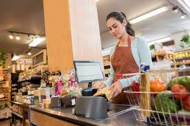Cashier Working At A Food Market Worklife Law