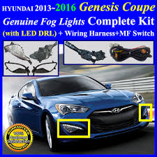 2013~2016 hyundai genesis coupe fog light lamp complete kit wiring item condition new