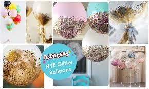 new years glitter balloon diy