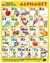Abcd Chart With Picture Navneet Big Wall Chart Alphabet English