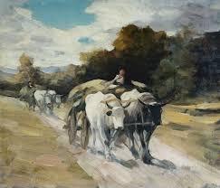 Ищу вдохновение  дипломной работы была такая Повозка запряжённая волами не могу точно перевесть с молдавского я вдохновилась картиной Николая Григореску жалко что
