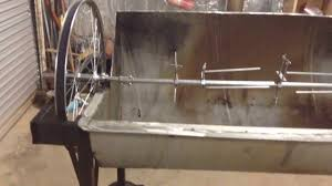 Homemade Spit Roast Design Jazzs Home Made Rotisserie Video 2 Pig Goat Spit Treadmill