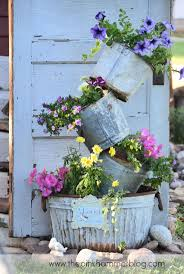 Chic Galvanized Buckets For Bucket Ideas: Chic Galvanized Buckets Made Of  Steel For Vase Ideas