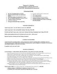 pastors resume sample resume for pastors