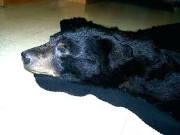 faux bear skin rug with head black fake canada