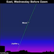 Moon And Jupiter October 25 2016 Sky Archive Earthsky