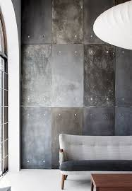 painting concrete wallsMake your own concreteeffect feature wall using cement fibre