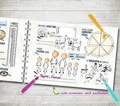Bücher Freundebuch Kindergarten Freunde Block Ein Designerstück
