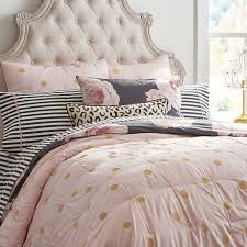polka dot comforter set twin the emily meritt gold quilt dusty pink chloe s room 15