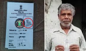 west bengal man gets voter id card