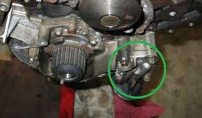 mitsubishi montero sport i have a 2001 mitsubishi montero i m not sure why you would take the water pump off to access the oil filter neck they aren t in each others way or anything unless you are referring to the