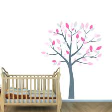 pink wall decals for nursery pink and grey nursery tree decals for kids  rooms pink and . pink wall decals ...