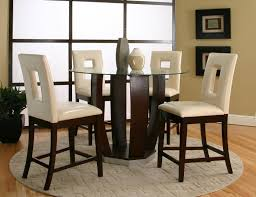 cramco inc contemporary design emerson tempered glass top pub pertaining to dining table set with glass top