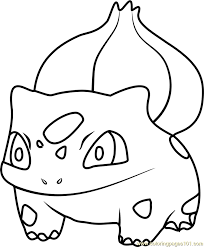 Small Picture Bulbasaur Pokemon GO Coloring Page Free Pokmon GO Coloring