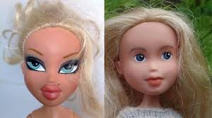 bratz dolls with and without makeup