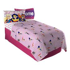 girls twin sheet set dc super hero girls cosmic girl twin sheet set best price