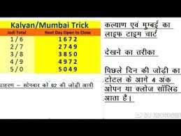 Kalyan Daily 4 Ank Life Time Chart Videos Matching 4 Ank Otc Trick Life Time Trick Kalyan