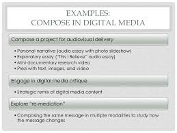 the role of digital literacy in writing instruction examples