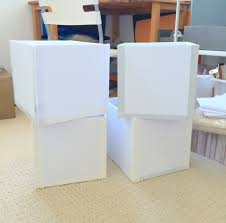 diy decorated storage boxes. Step 5 - Your Custom Sized Storage Boxes Made From Foam Boards That Are Now Ready Diy Decorated G