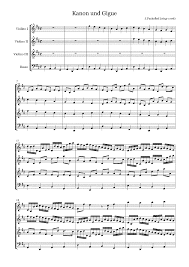 pachelbel canon violin sheet music canon and gigue in d major p 37 pachelbel johann imslp