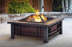 image of portable outdoor wood burning fireplace