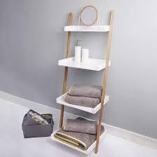 Elements White Ladder Shelves Unit