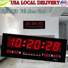 large digital wall clock with temperature digital large big jumbo led wall desk alarm clock with large digital wall clock with temperature