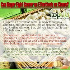 Image result for ginger and cancer