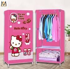 hk fashion 3d wardrobe clothes storage organizer 001 pink