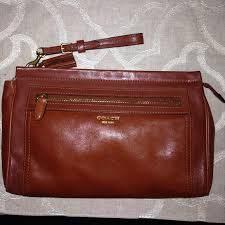 Coach Legacy Leather Large Clutch Wristlet
