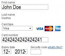 Visa credit card numbers begin with 4; Fake Credit Card Numbers Visa