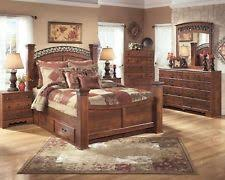 Ashley Coal Creek Queen 8 Piece Mansion Bedroom Set furniture B175 ...