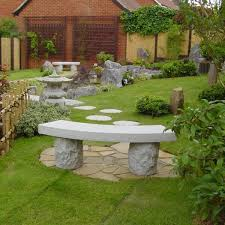 japanese garden uk stone garden bench