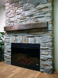 fireplace stones rocks river rock surround gas in stone designs 15