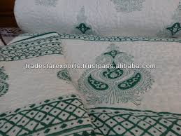 Indian Handmade Cotton Quilt,Hand Block Print With Pattern ... & Indian Handmade Cotton Quilt,Hand Block Print With Pattern  Quilting,Beautiful & Elegant Prints With 2 Quilted Pillow Covers - Buy  Jaipur Hand Block Print ... Adamdwight.com
