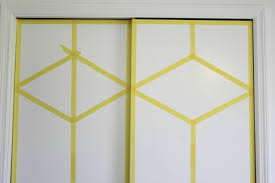 painted closet doors. Stunning - AND She Did It With Paint And FrogTape! DIY Painted Patterned Doors Closet