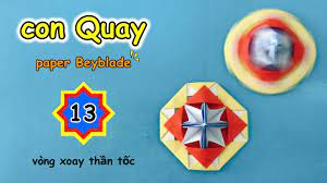 Cách gấp con Quay bằng giấy ? Beyblade ? How to make a paper spinning  Top? con quay V13 - YouTube