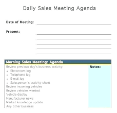 One On Meeting Agenda Template 1 Sales Doc First Sample