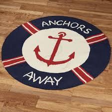 anchors away rug navy 3 round