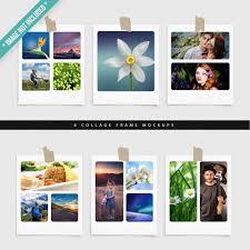6 collage frame mockups premium psd