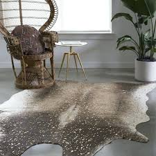 faux cow skin rug mocha and gold faux cowhide rug