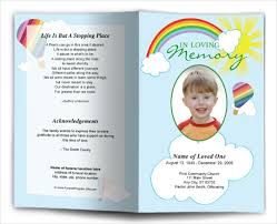 Burial Service Program Layout Funeral Template Funeral