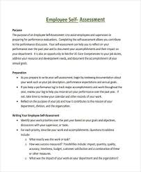 34 Self Assessment Examples Samples Pdf Doc Pages Examples