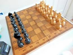 chess set folding wooden box playing board all wood chess pieces backgammon